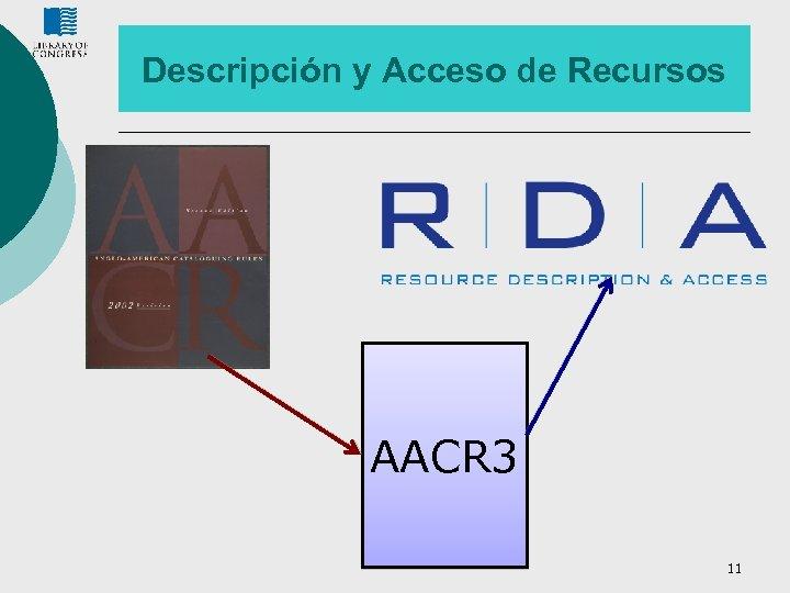 Descripción y Acceso de Recursos AACR 3 11