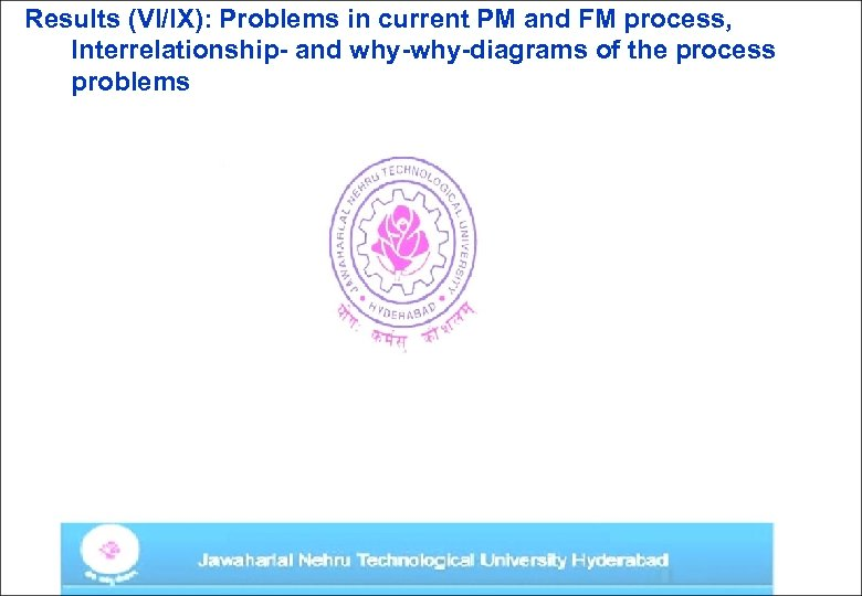 Results (VI/IX): Problems in current PM and FM process, Interrelationship- and why-diagrams of the