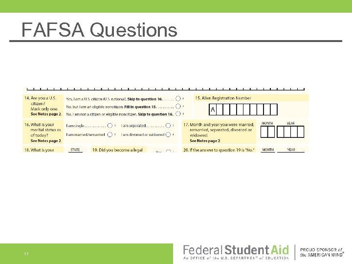 FAFSA Questions 11