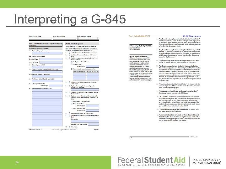 Interpreting a G-845 34