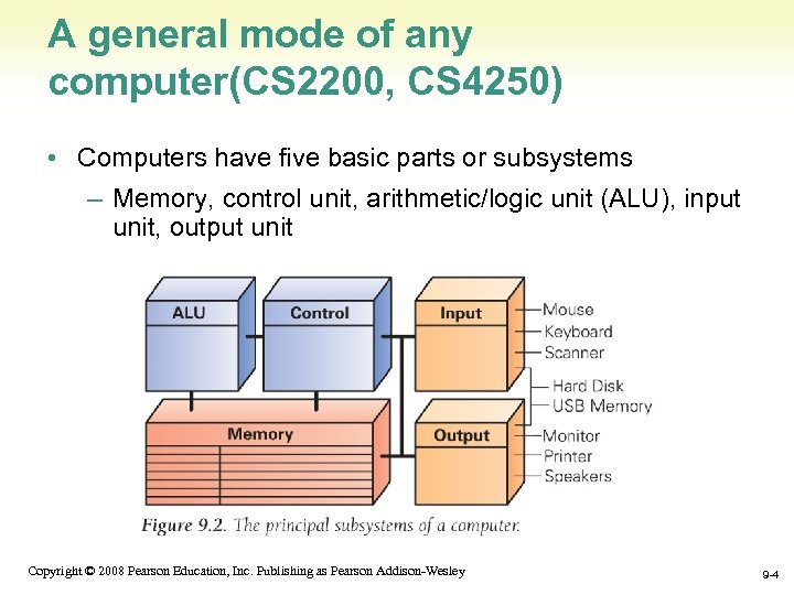 A general mode of any computer(CS 2200, CS 4250) • Computers have five basic