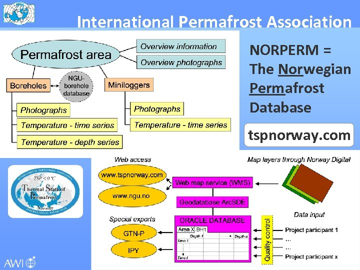 International Permafrost Association NORPERM = The Norwegian Permafrost Database tspnorway. com ipa-permafrost. org