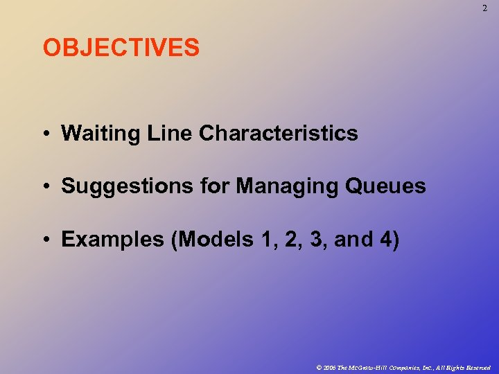 management of waiting lines Why do waiting lines form why do waiting lines form waiting lines occur when there is a temporary imbalance between supply (capacity) and demand waiting lines add to the cost of operation and they reflect negatively on customer service, it is important to balance the cost of having customers wait with the cost of providing service capacity.