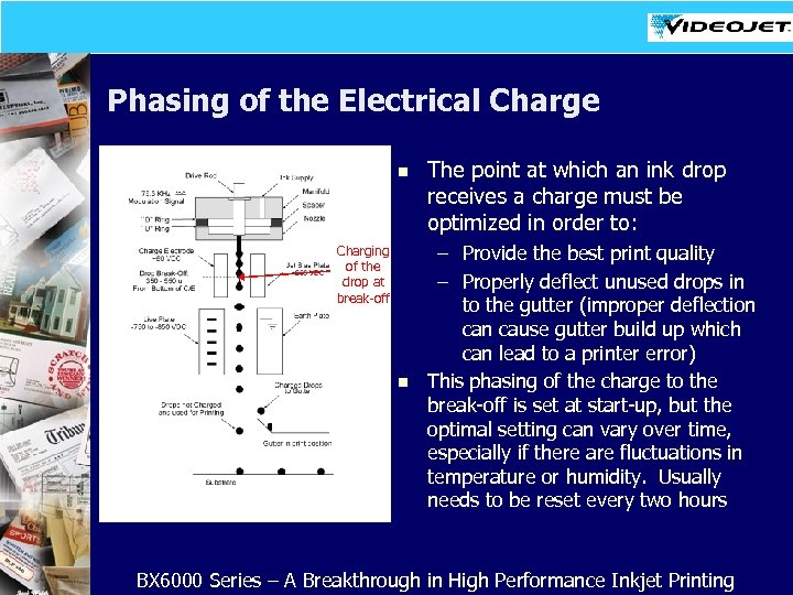 Phasing of the Electrical Charge n Charging of the drop at break-off n The