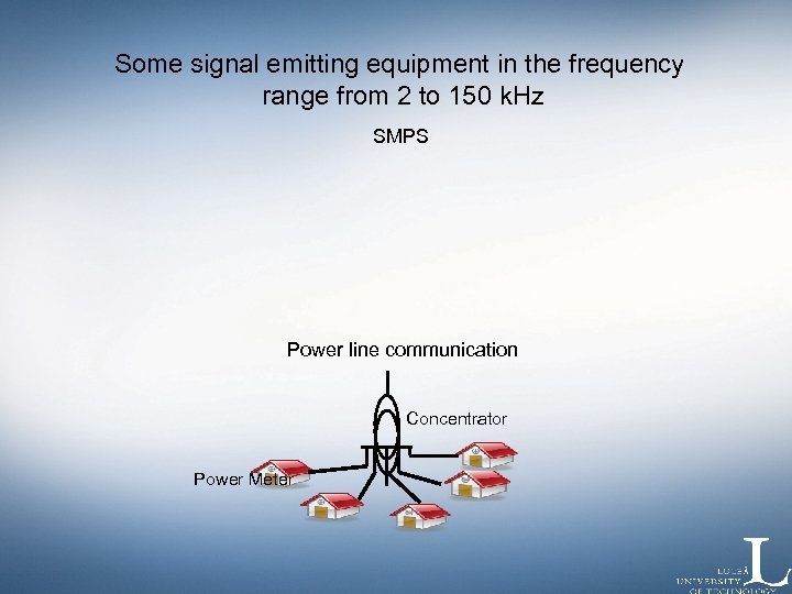 Some signal emitting equipment in the frequency range from 2 to 150 k. Hz