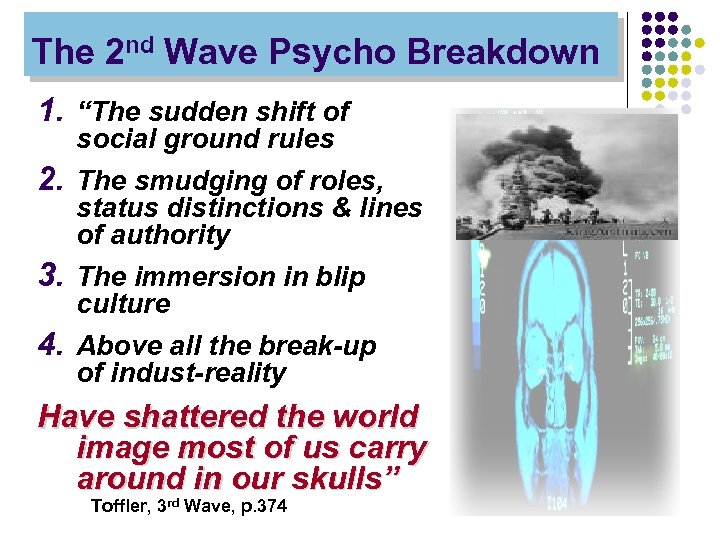 """The 2 nd Wave Psycho Breakdown 1. """"The sudden shift of social ground rules"""