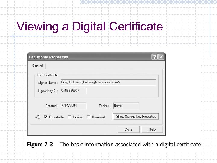 Viewing a Digital Certificate