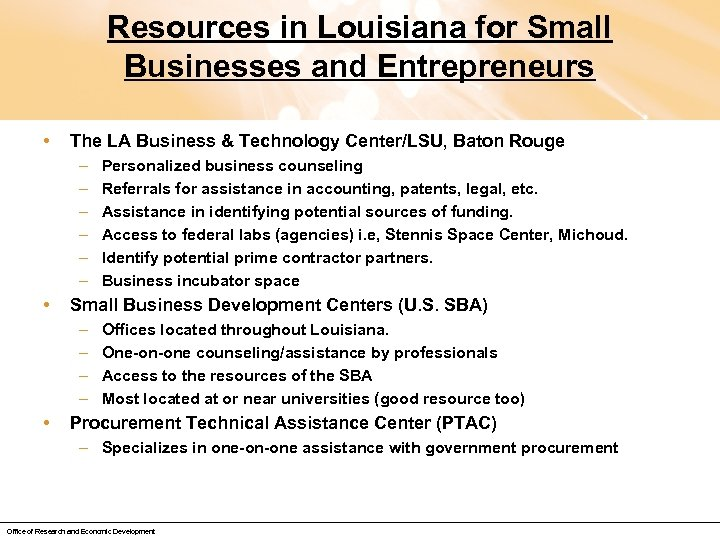 Resources in Louisiana for Small Businesses and Entrepreneurs • The LA Business & Technology