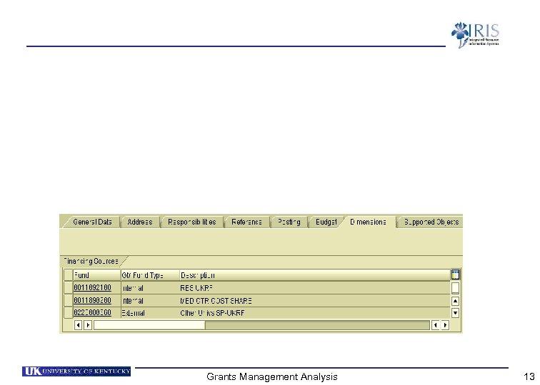Grants Management Analysis 13
