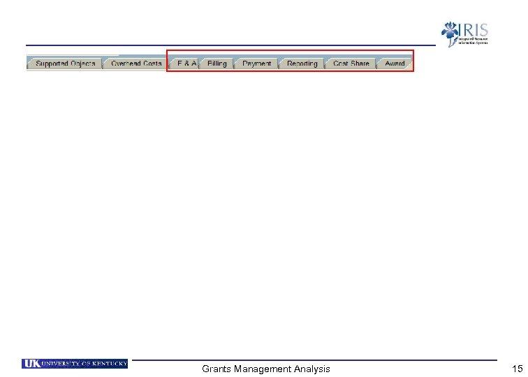 Grants Management Analysis 15