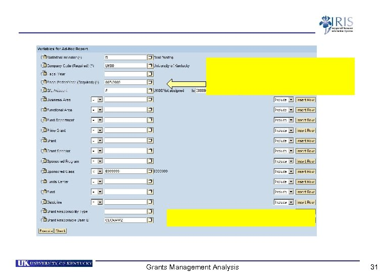 Grants Management Analysis 31