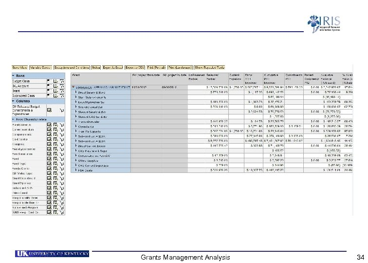 Grants Management Analysis 34