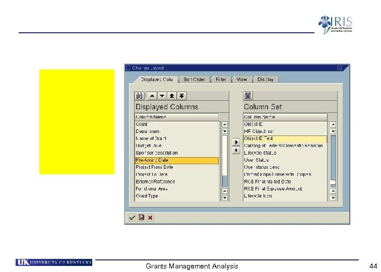 Grants Management Analysis 44