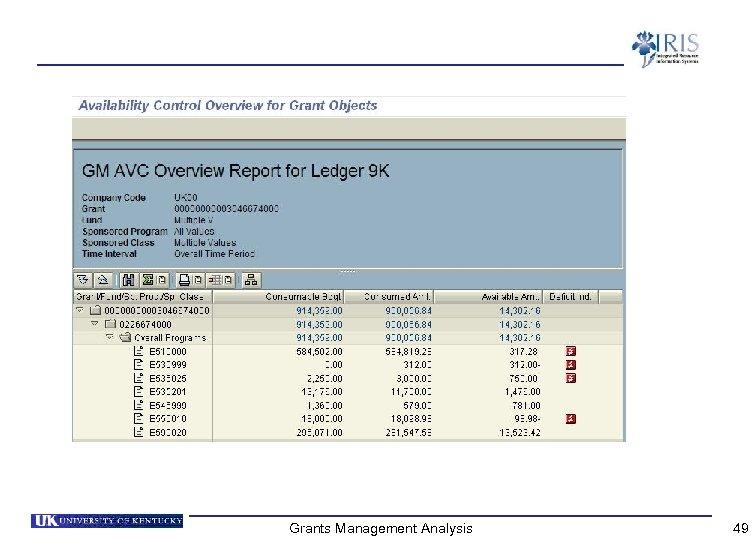 Grants Management Analysis 49