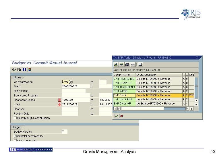 Grants Management Analysis 50