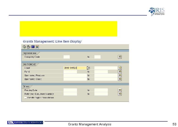 Grants Management Analysis 53