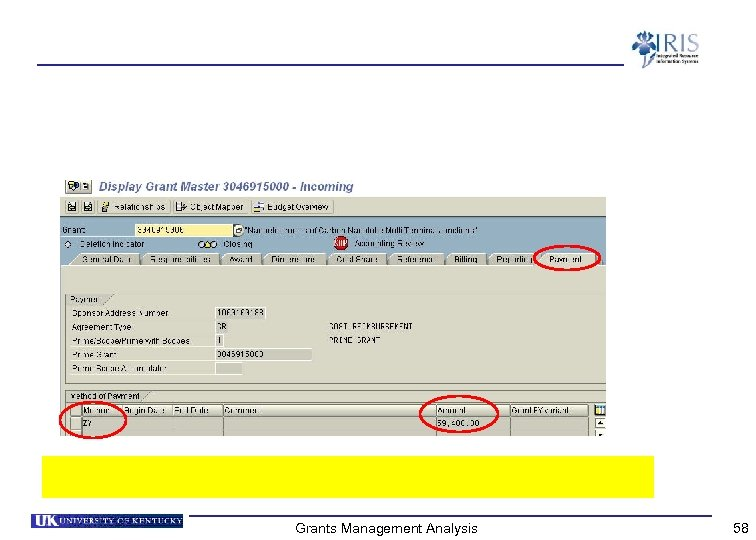 Grants Management Analysis 58
