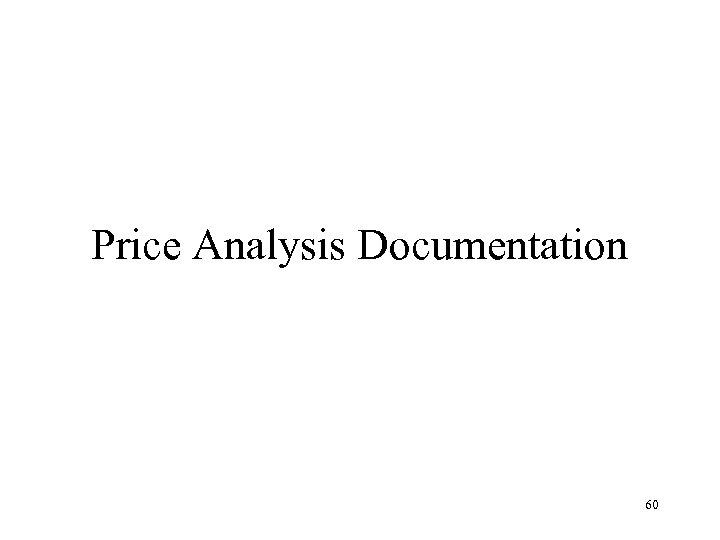 Price Analysis Documentation 60