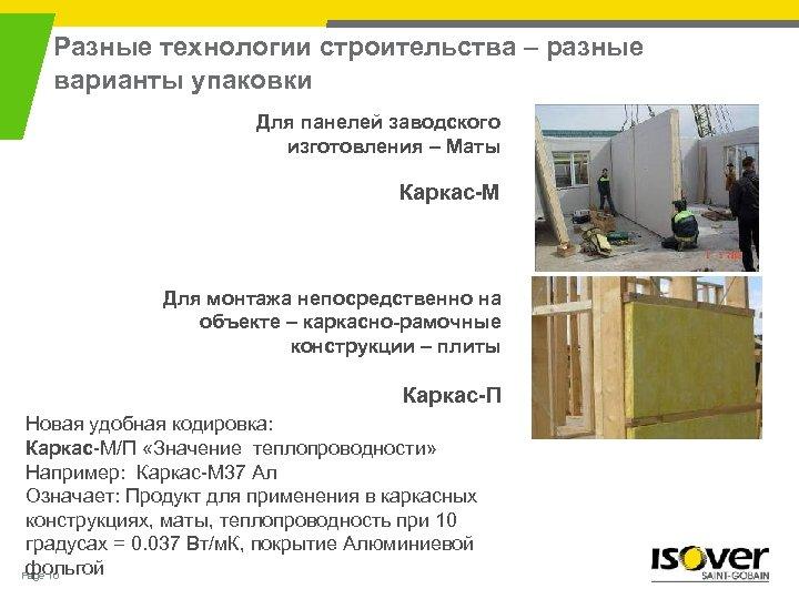 Разные технологии строительства – разные варианты упаковки Для панелей заводского изготовления – Маты Каркас-М