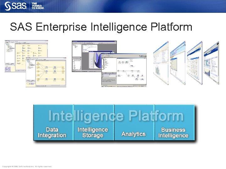 SAS Enterprise Intelligence Platform Copyright © 2006, SAS Institute Inc. All rights reserved.