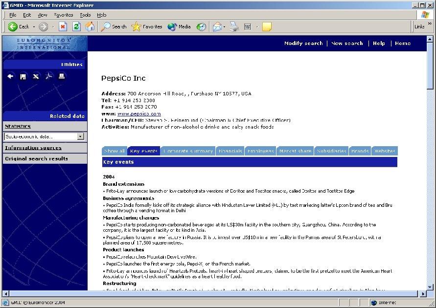 Companies - Profiles ies Profiles