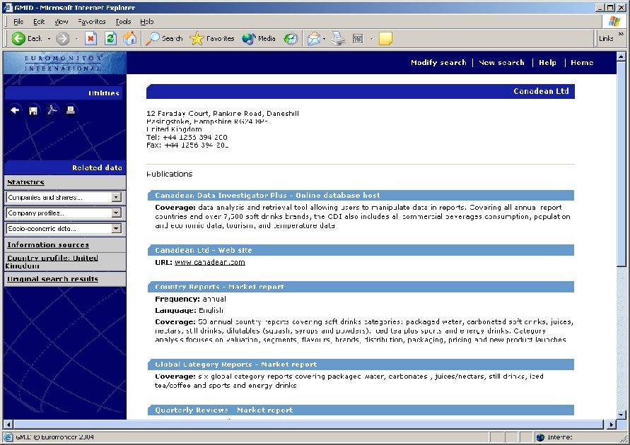 Information Sources Information
