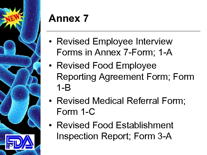 Annex 7 • Revised Employee Interview Forms in Annex 7 -Form; 1 -A •
