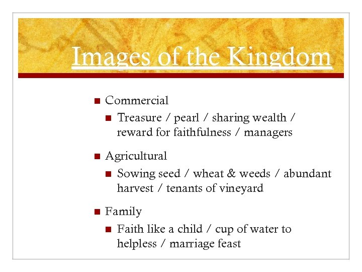 Images of the Kingdom n Commercial n Treasure / pearl / sharing wealth /