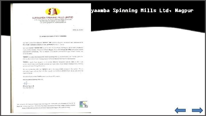 Suryaamba Spinning Mills Ltd, Nagpur