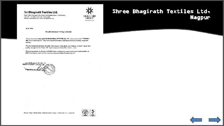 Shree Bhagirath Textiles Ltd, Nagpur