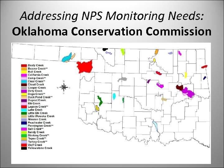 Addressing NPS Monitoring Needs: Oklahoma Conservation Commission
