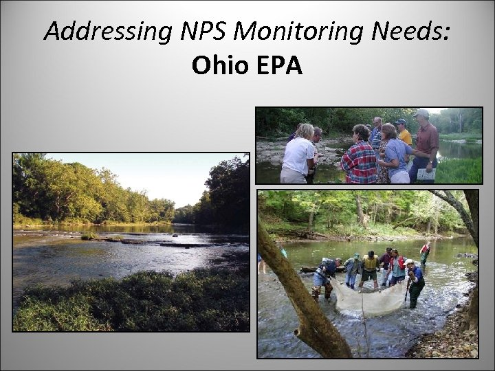 Addressing NPS Monitoring Needs: Ohio EPA