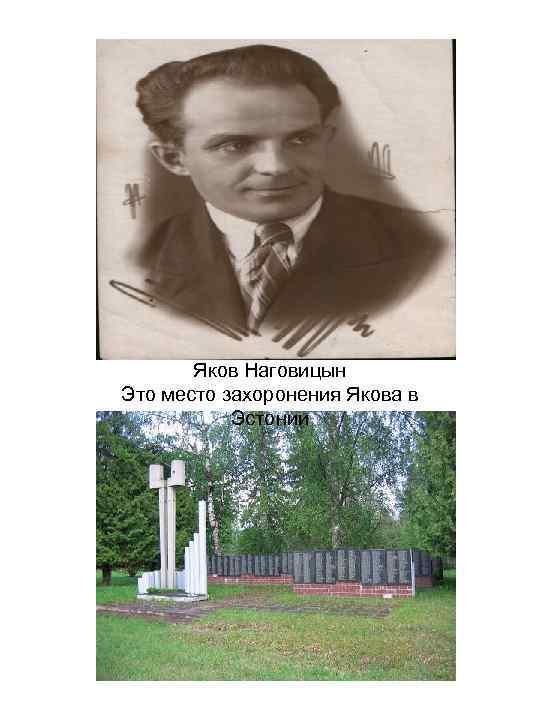 Яков Наговицын Это место захоронения Якова в Эстонии