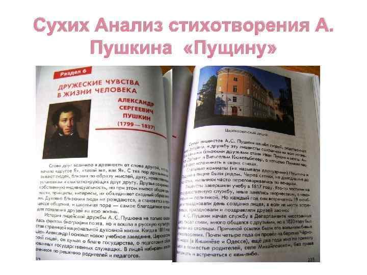 Сухих Анализ стихотворения А. Пушкина «Пущину»