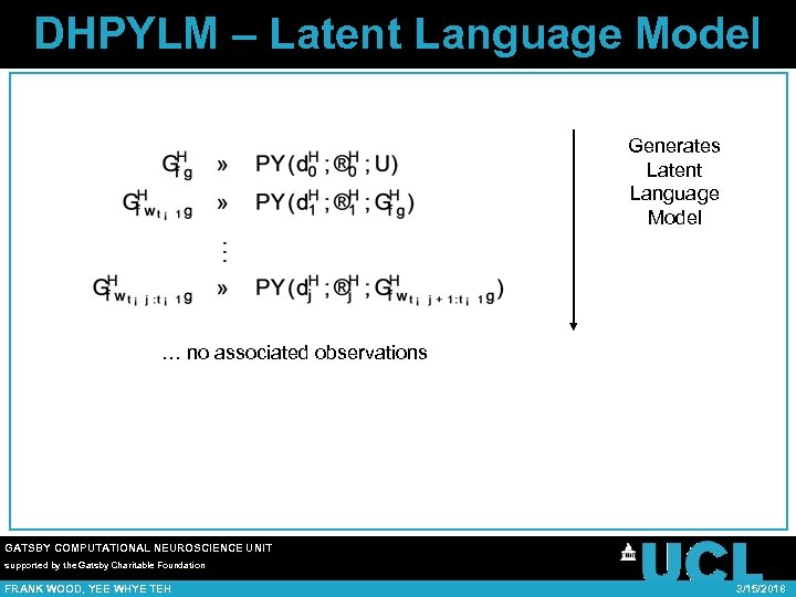 DHPYLM – Latent Language Model Generates Latent Language Model … no associated observations GATSBY