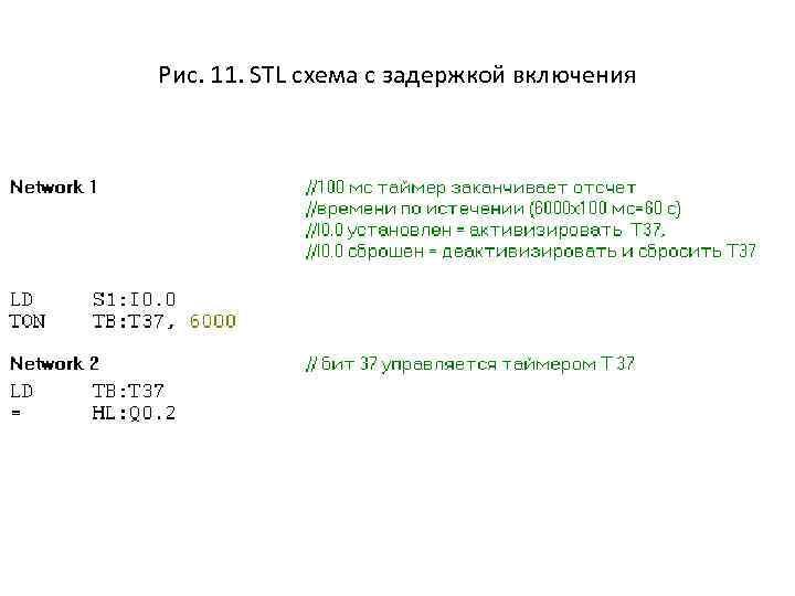 Рис. 11. STL схема с задержкой включения