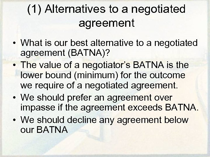 Rational Decisions In Negotiations Two