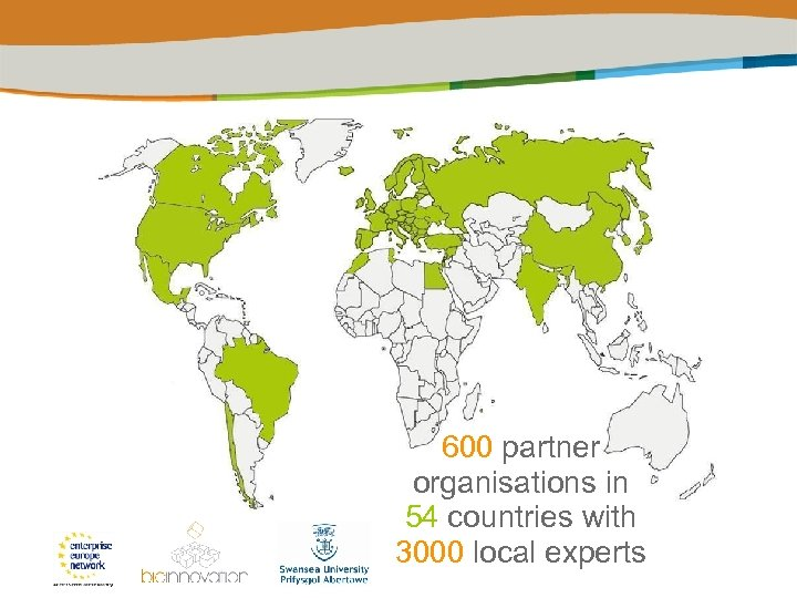 600 partner organisations in 54 countries with 3000 local experts