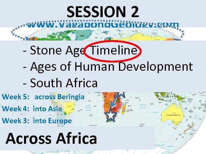website: SESSION 2 www. Vagabond. Geology. com - Stone Age Timeline - Ages of
