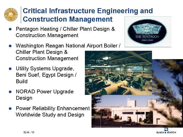 Critical Infrastructure Engineering and Construction Management l Pentagon Heating / Chiller Plant Design &
