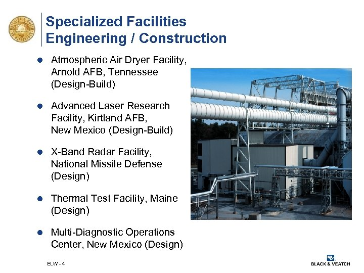 Specialized Facilities Engineering / Construction l Atmospheric Air Dryer Facility, Arnold AFB, Tennessee (Design-Build)