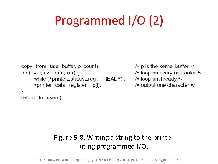 Programmed I/O (2) Figure 5 -8. Writing a string to the printer using programmed