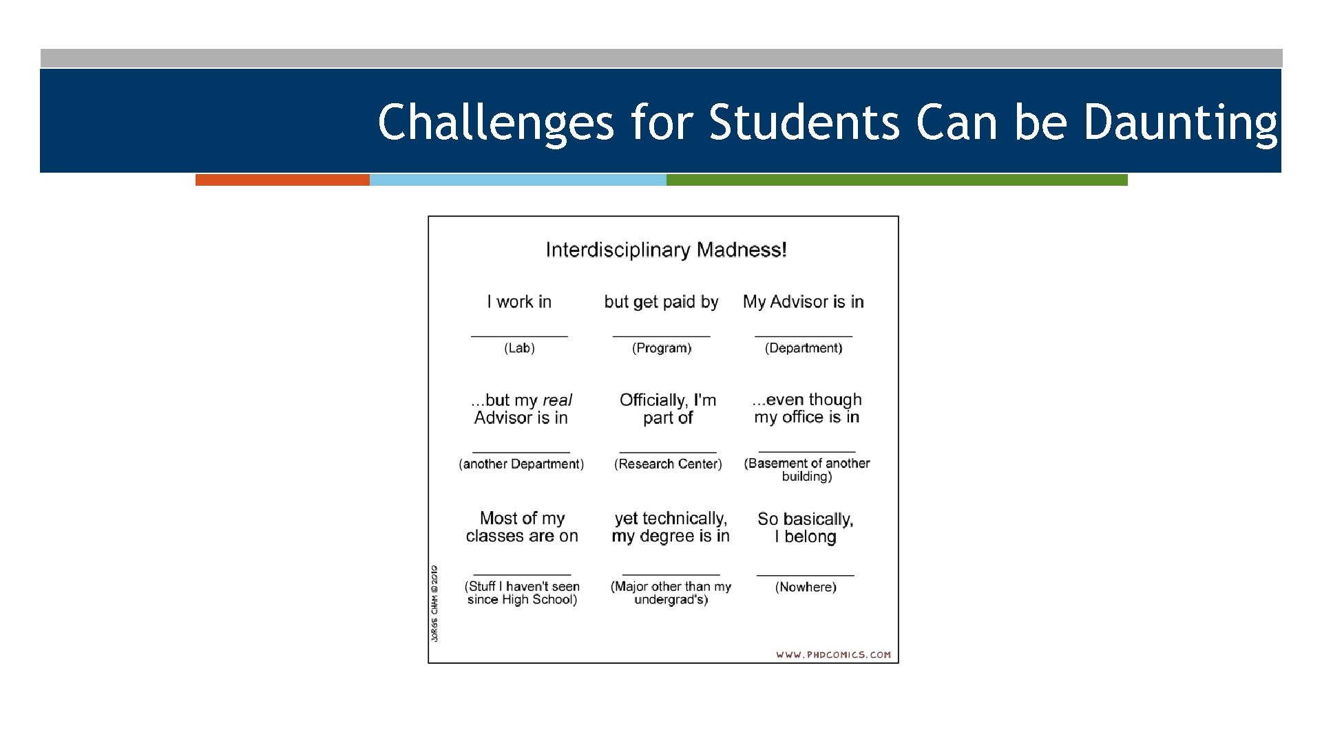 Challenges for Students Can be Daunting