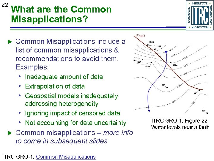 22 What are the Common Misapplications? Common Misapplications include a list of common misapplications