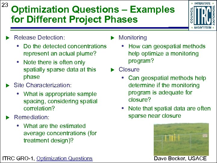 23 Optimization Questions – Examples for Different Project Phases Release Detection: • Do the