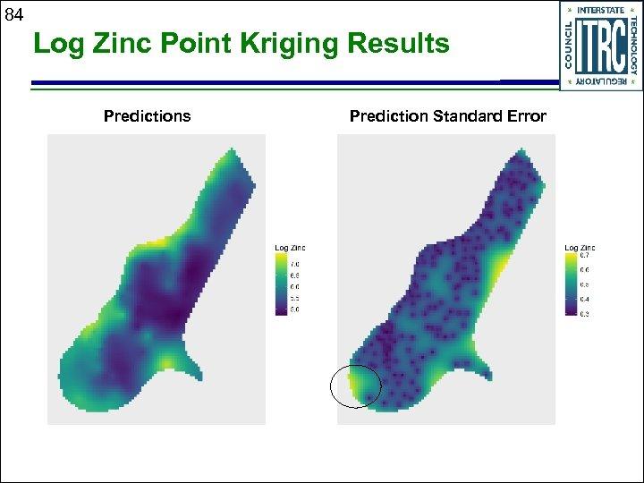 84 Log Zinc Point Kriging Results Prediction Standard Error