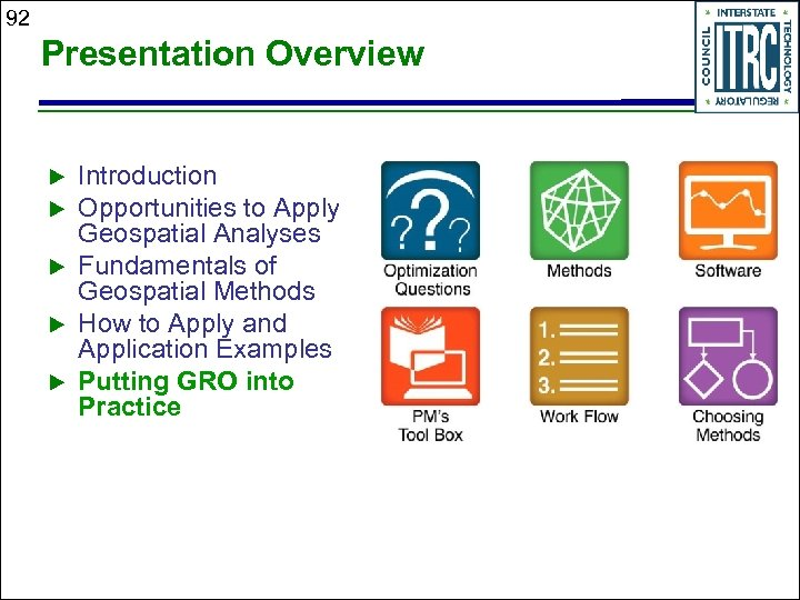 92 Presentation Overview Introduction Opportunities to Apply Geospatial Analyses Fundamentals of Geospatial Methods How
