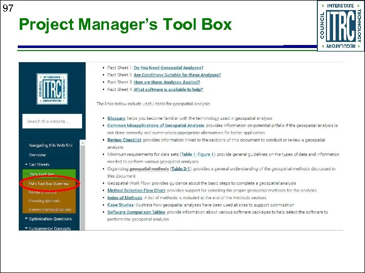 97 Project Manager's Tool Box