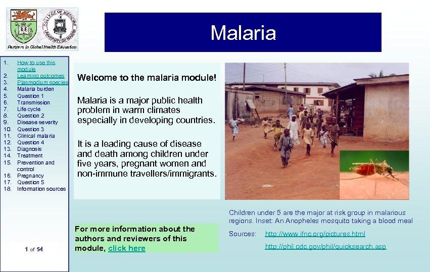 n t r o d u c t i o n 1 Malaria Partners