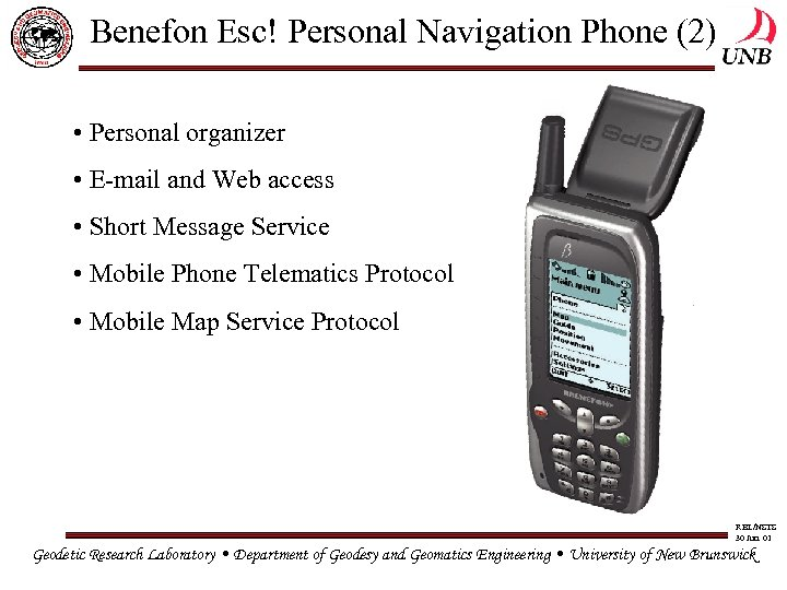 Benefon Esc! Personal Navigation Phone (2) • Personal organizer • E-mail and Web access